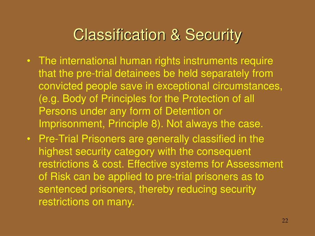 Classification & Security