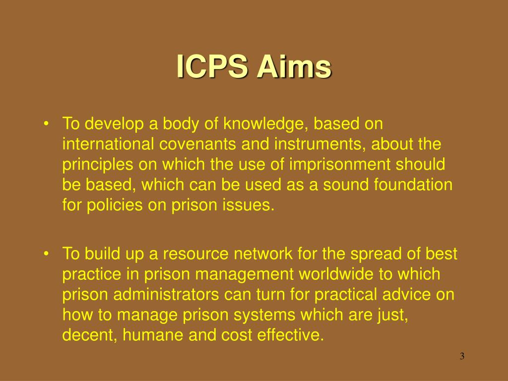ICPS Aims