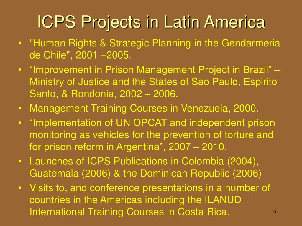 ICPS Projects in Latin America