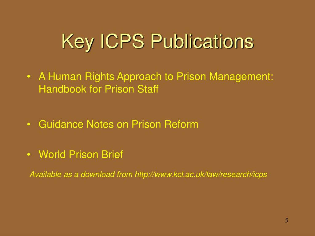 Key ICPS Publications