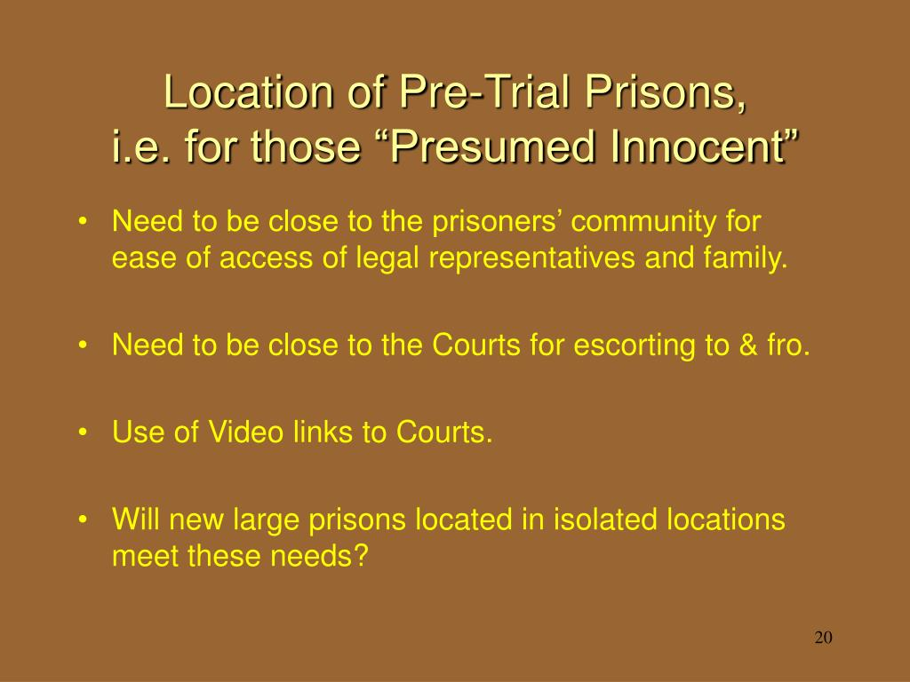 Location of Pre-Trial Prisons,