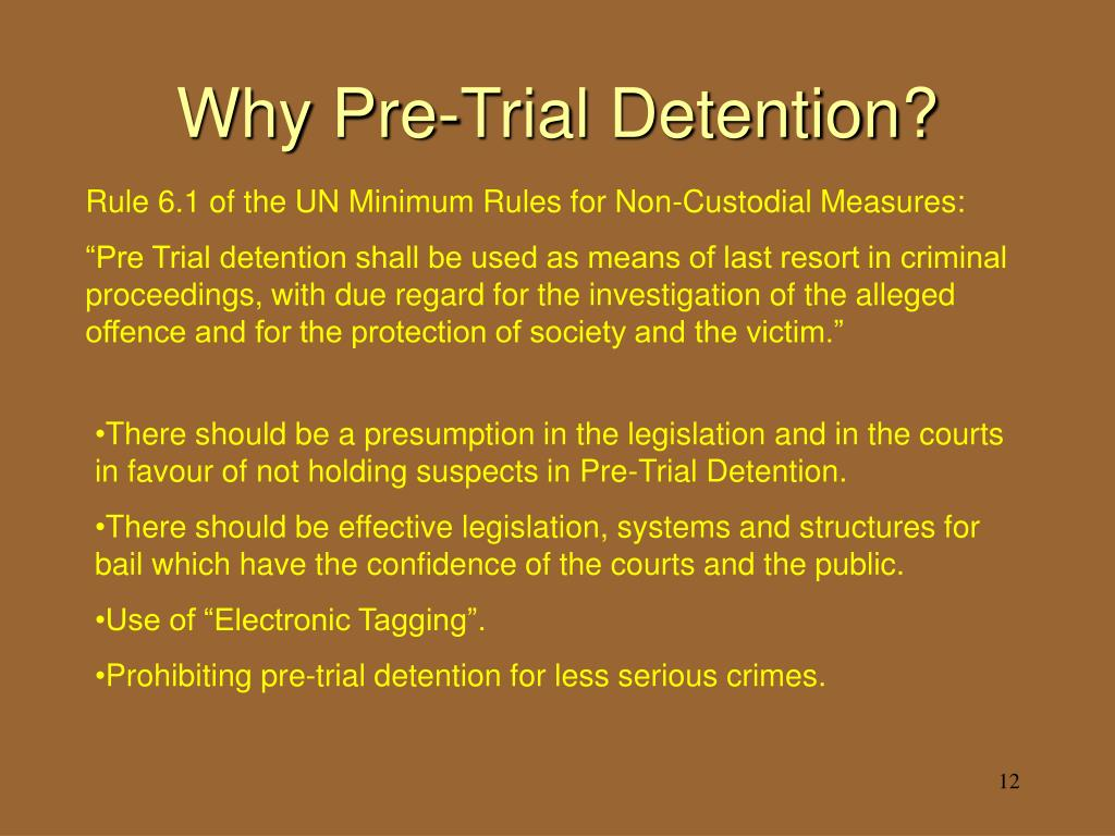 Why Pre-Trial Detention?
