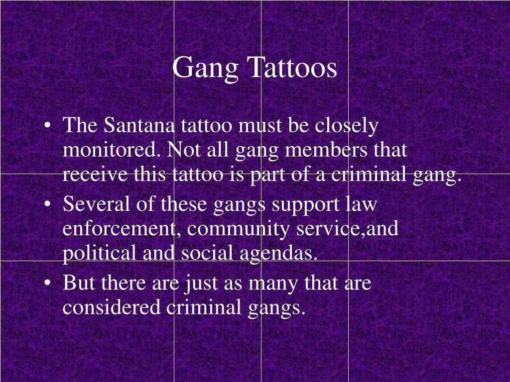 Gang Tattoos