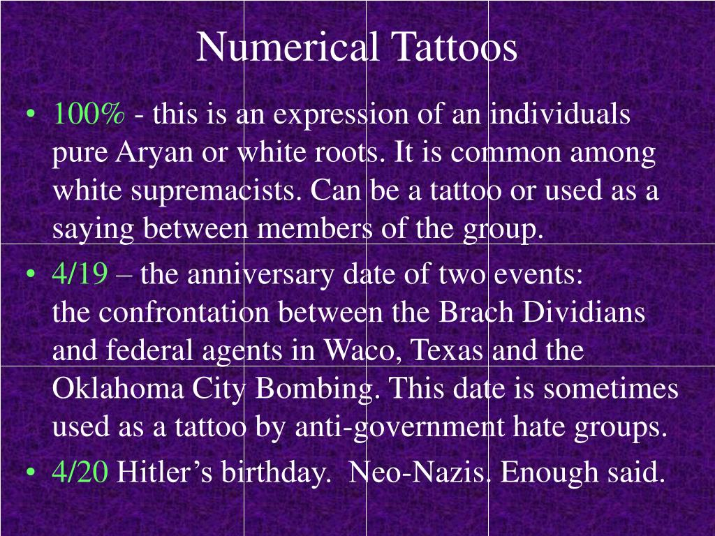 Numerical Tattoos