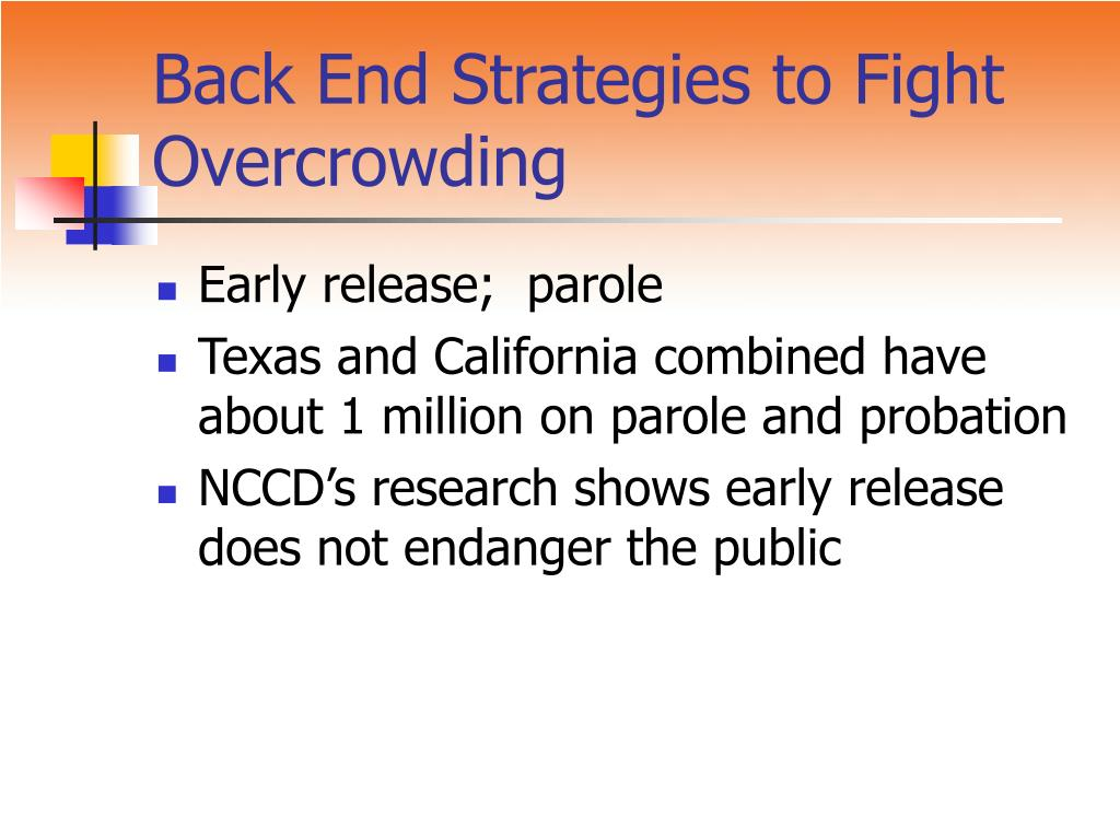 Back End Strategies to Fight Overcrowding
