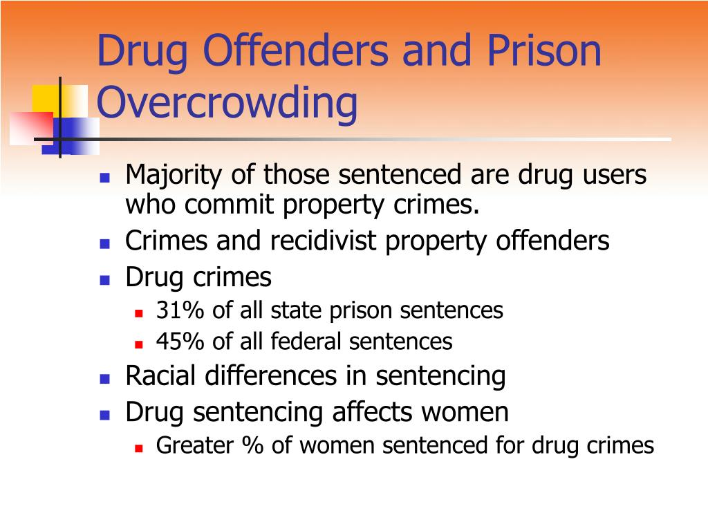 Drug Offenders and Prison Overcrowding