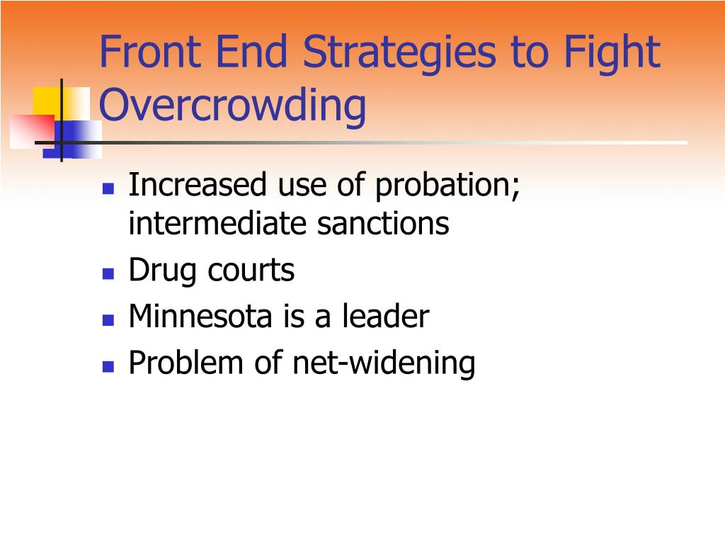 Front End Strategies to Fight Overcrowding