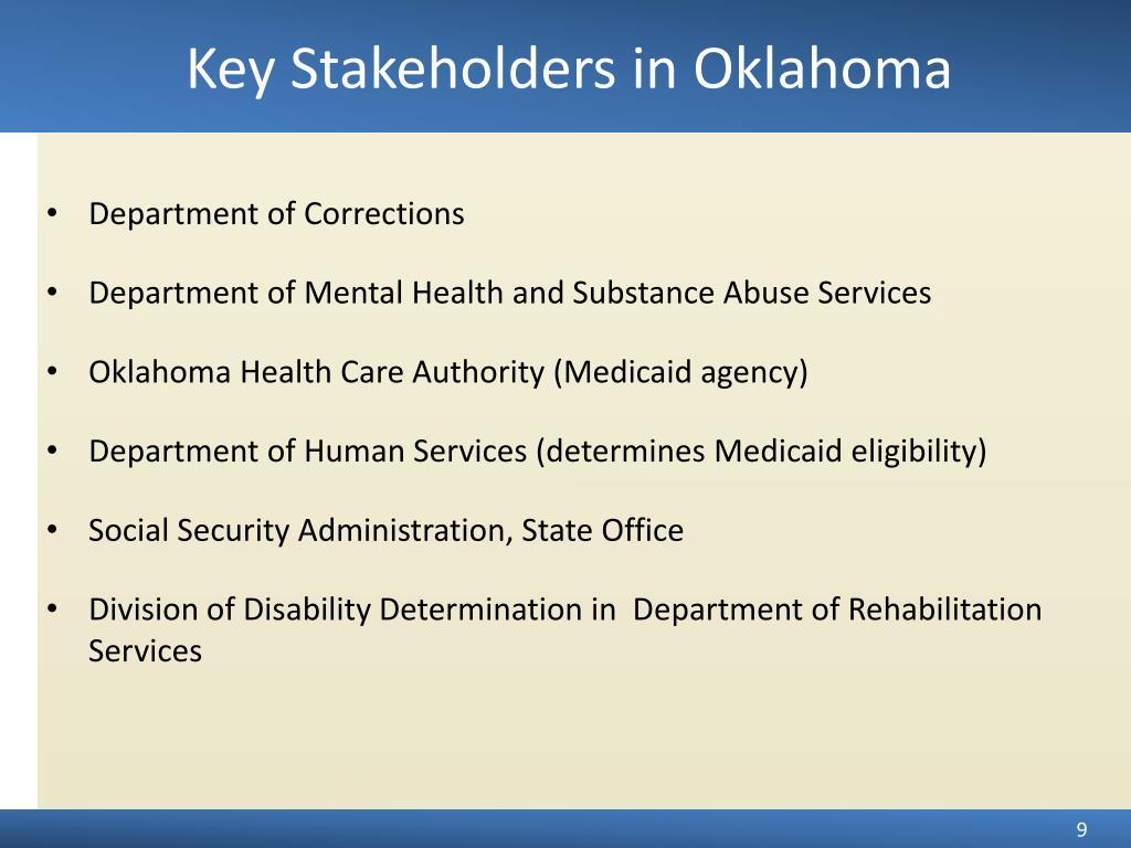 Key Stakeholders in Oklahoma