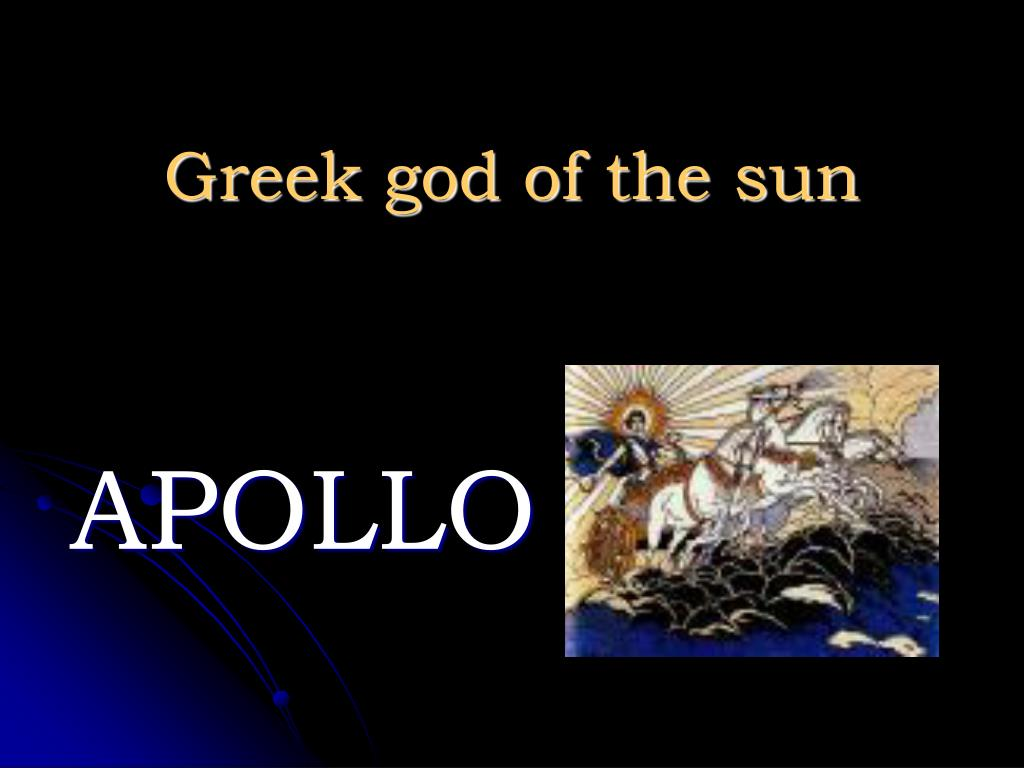Greek god of the sun