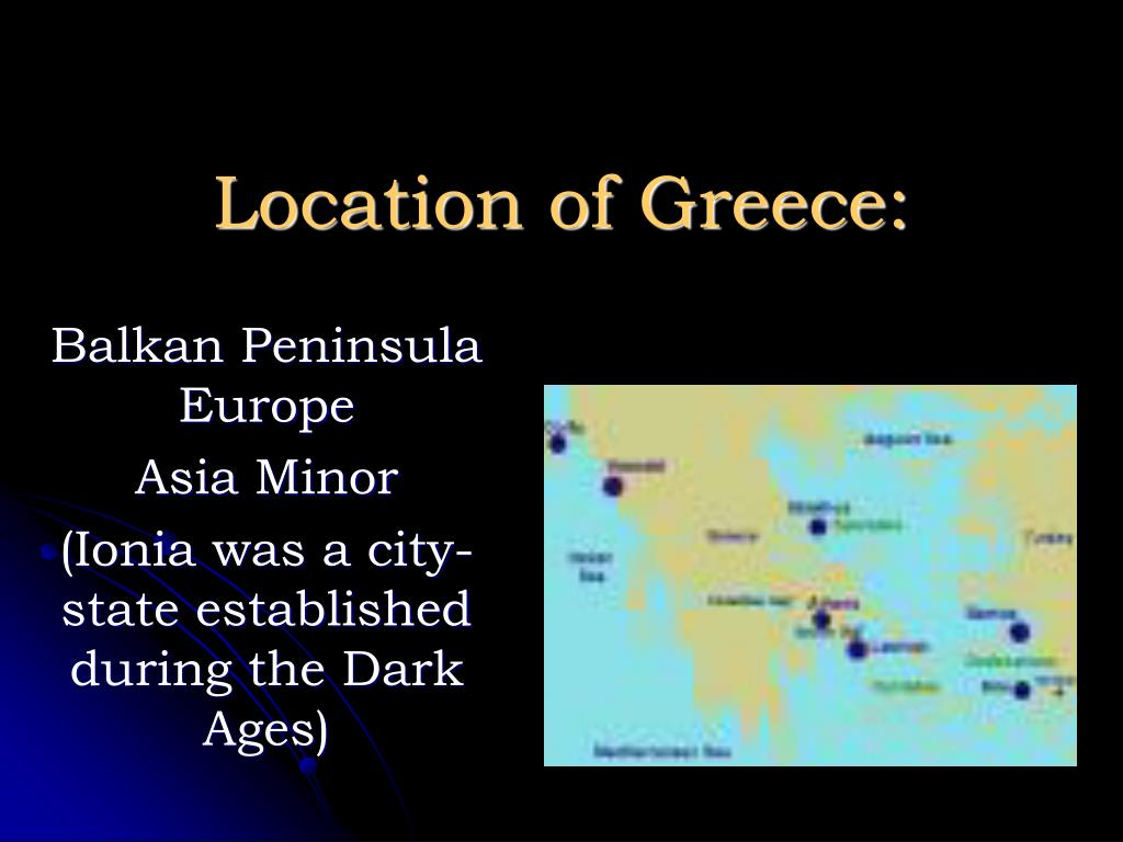 Location of Greece:
