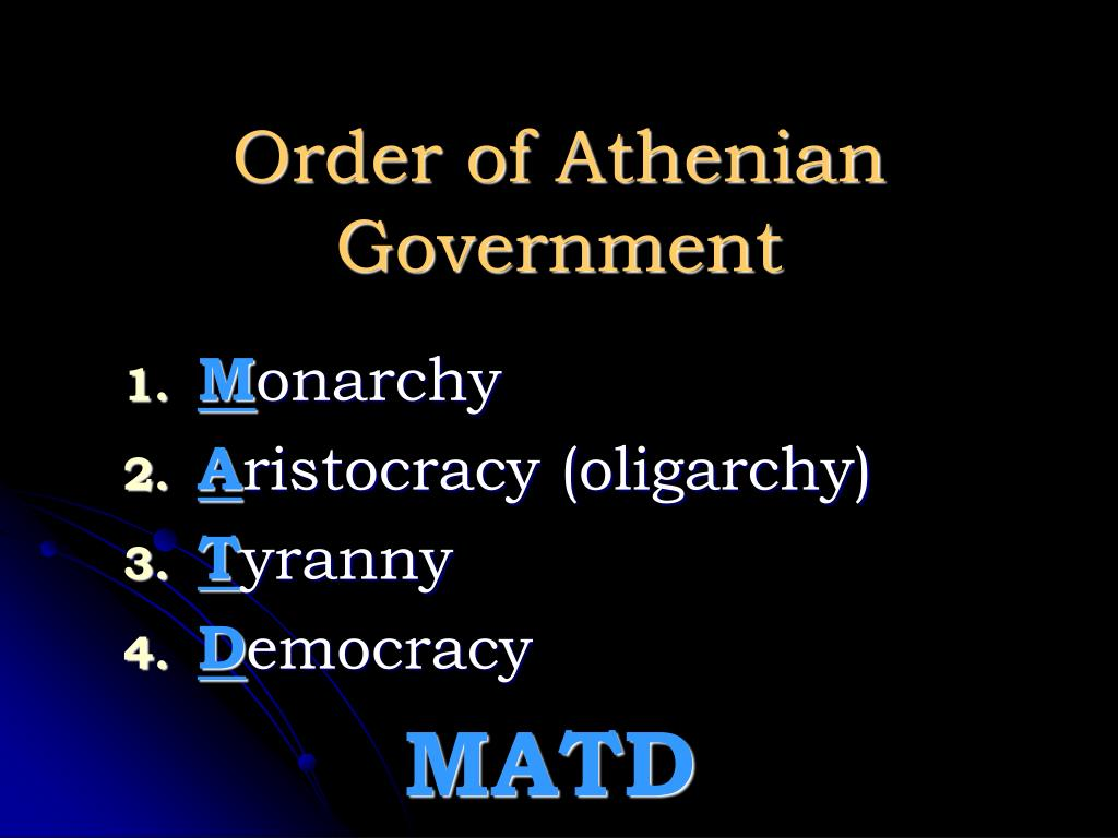 Order of Athenian Government