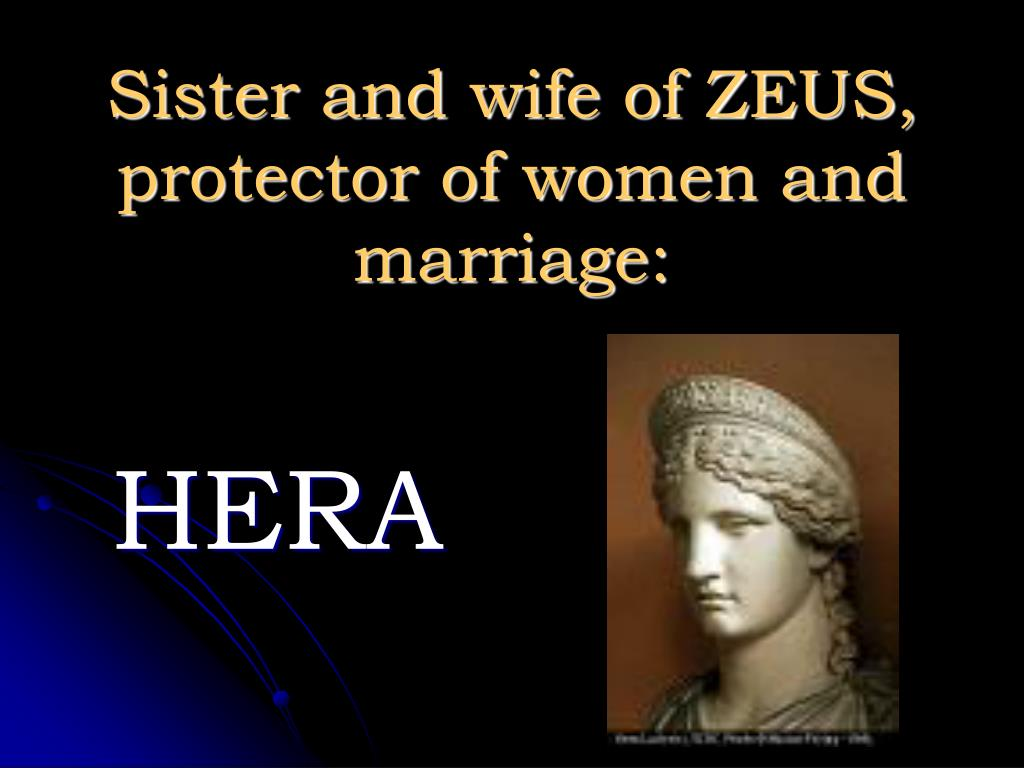 Sister and wife of ZEUS, protector of women and marriage: