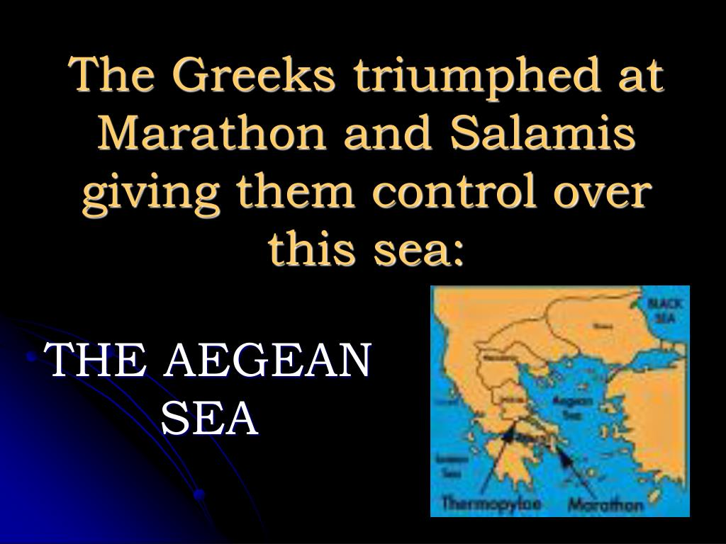 The Greeks triumphed at Marathon and Salamis giving them control over this sea: