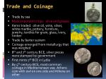 trade and coinage