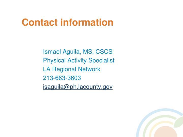Ismael Aguila, MS, CSCS