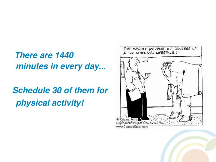There are 1440 minutes in every day...