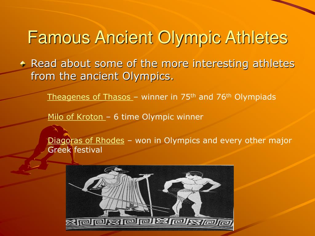 Famous Ancient Olympic Athletes