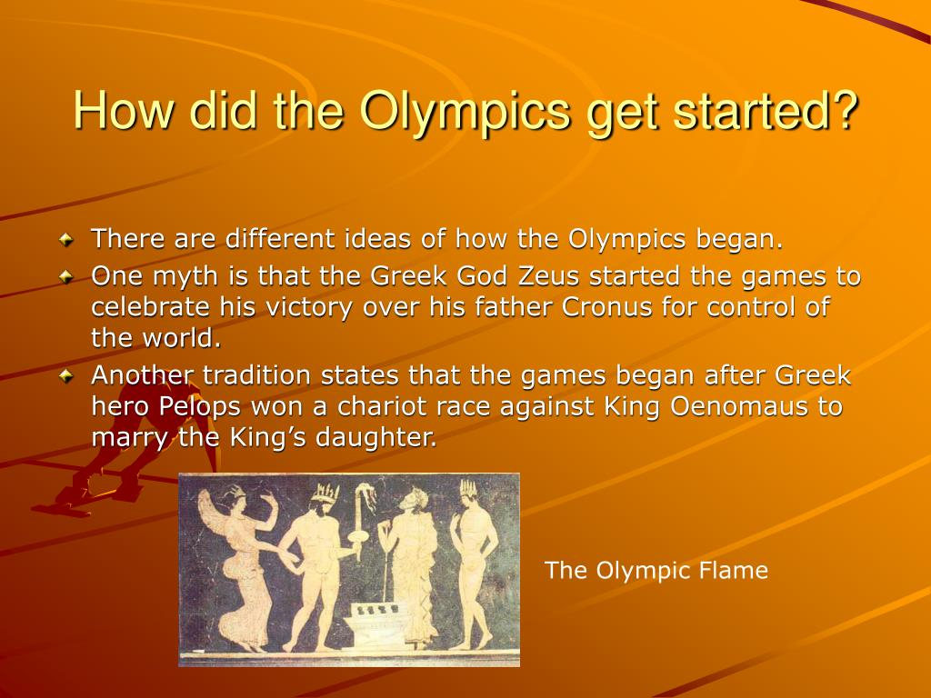 How did the Olympics get started?