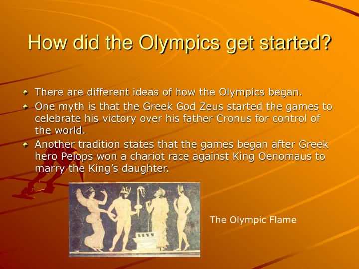 How did the olympics get started