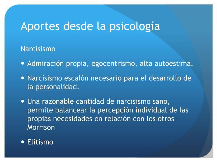 Aportes desde la psicología