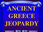 ancient greece jeopardy