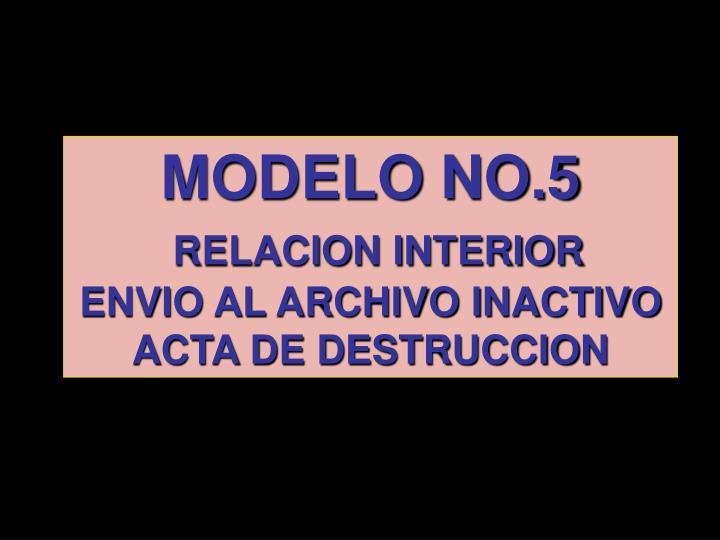 MODELO NO.5