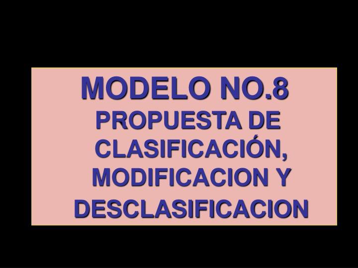 MODELO NO.8