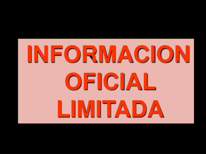 INFORMACION OFICIAL LIMITADA