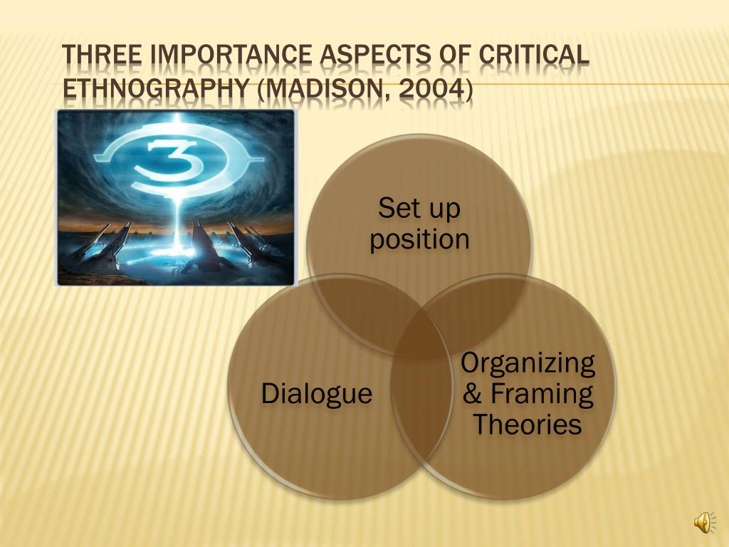 Three importance aspects of Critical Ethnography (Madison, 2004)