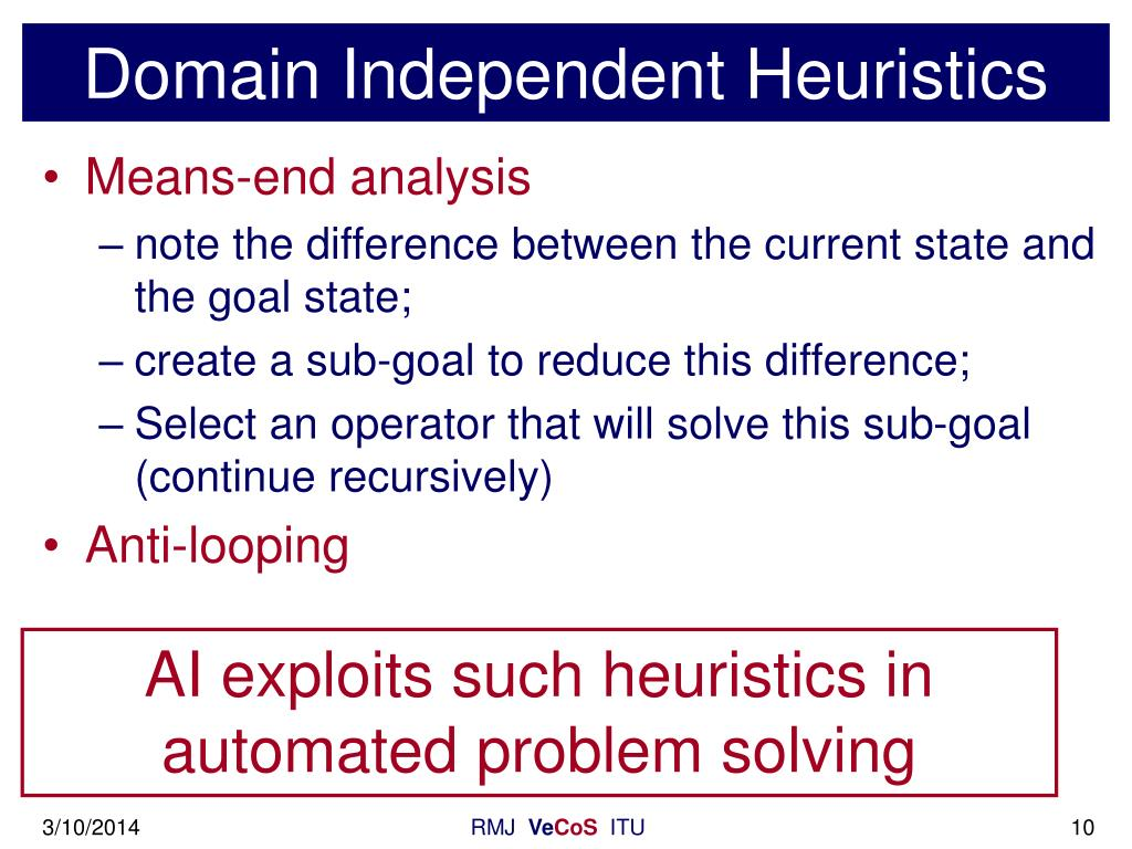 Domain Independent Heuristics