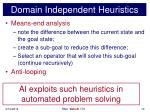 domain independent heuristics