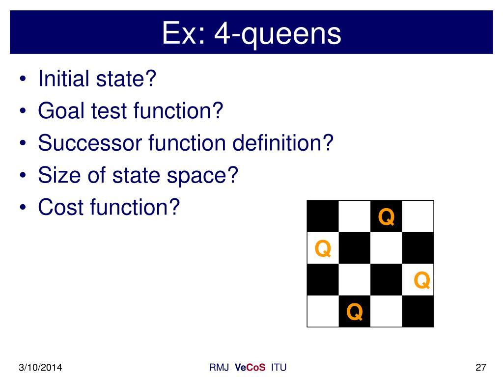 Ex: 4-queens