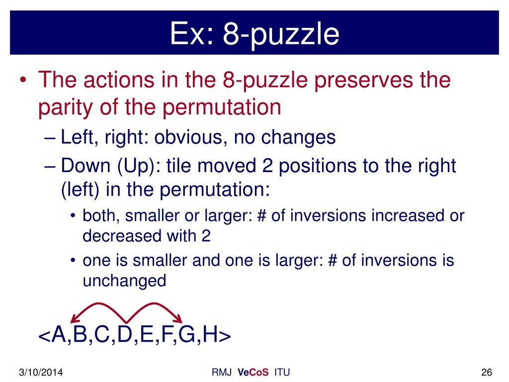 Ex: 8-puzzle