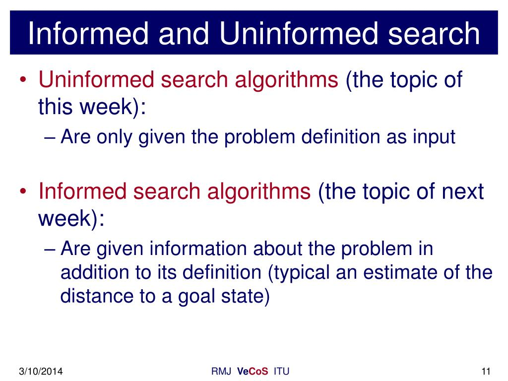 Informed and Uninformed search