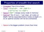properties of breadth first search48