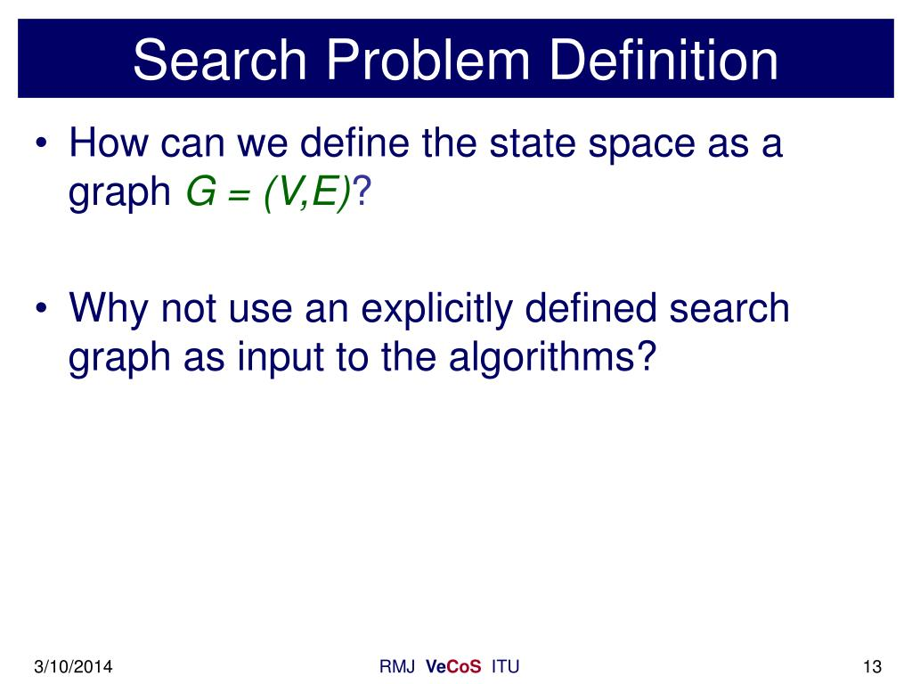 Search Problem Definition