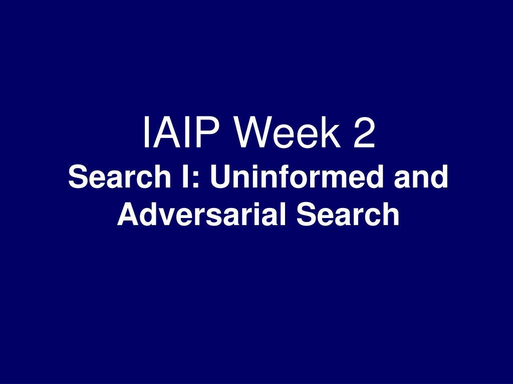 IAIP Week 2