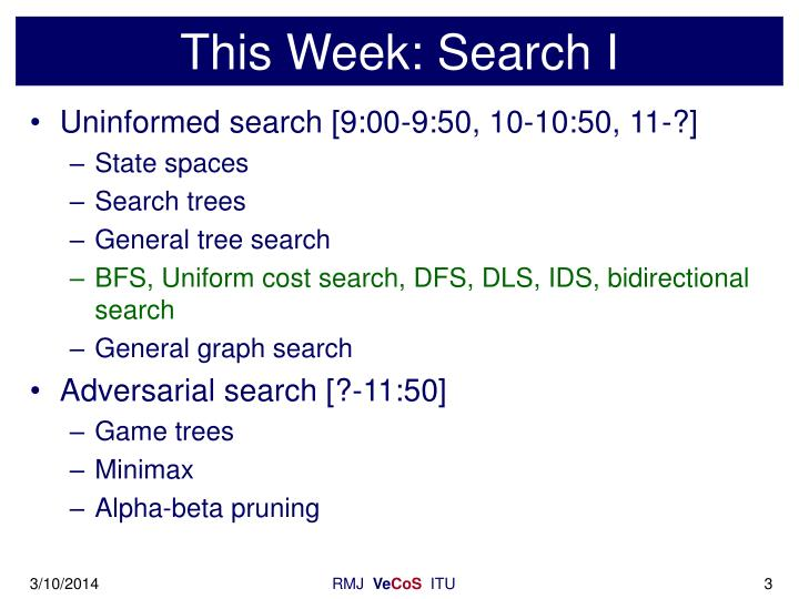 This week search i