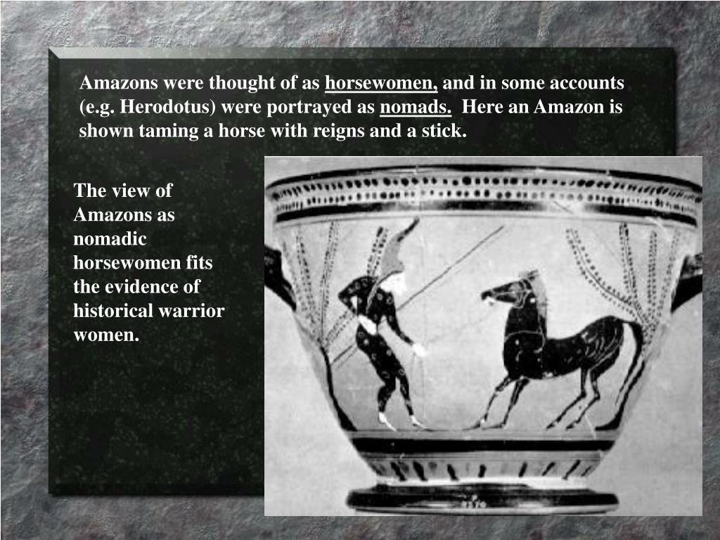 Amazons were thought of as