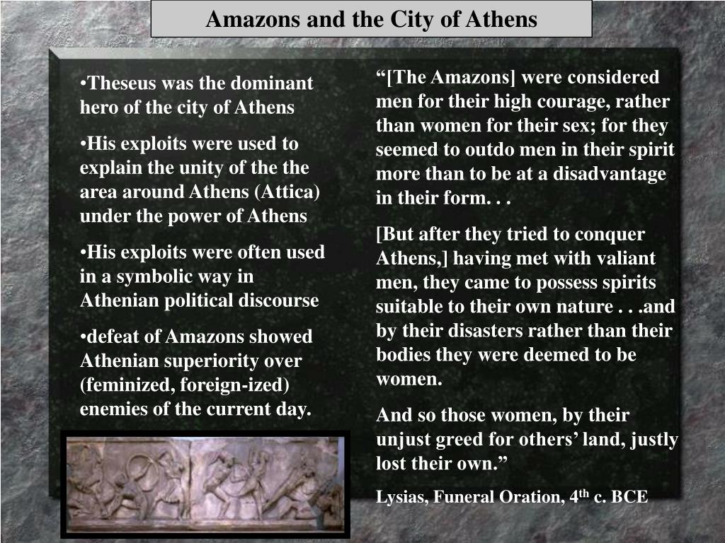 Amazons and the City of Athens
