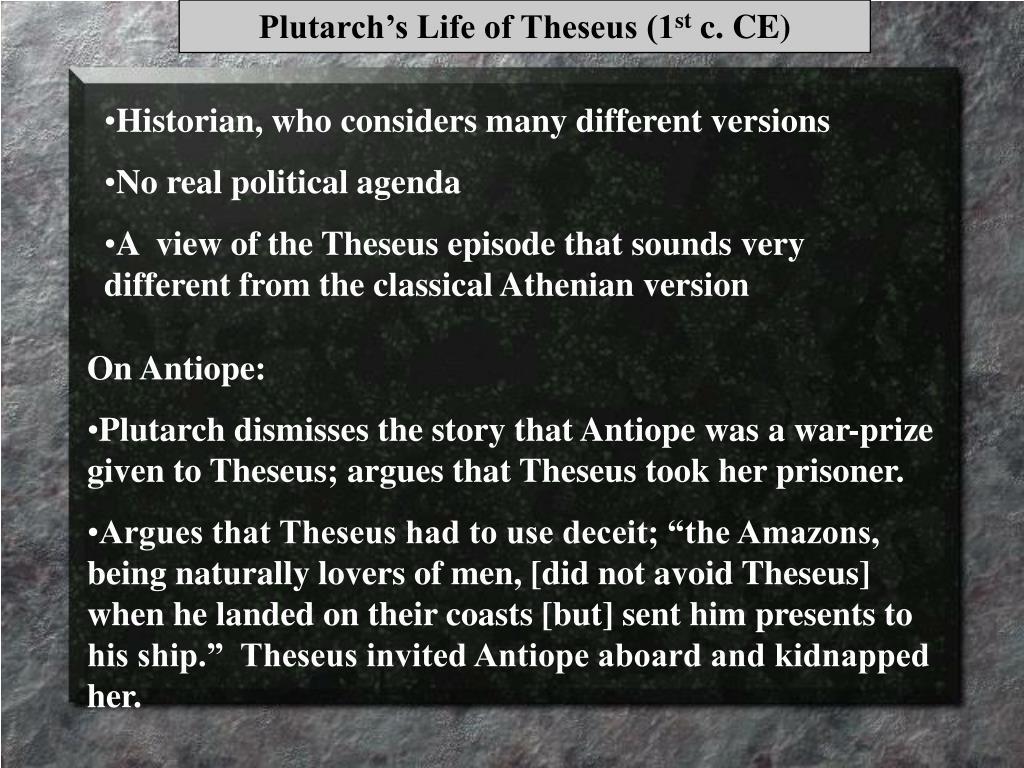 Plutarch's Life of Theseus (1