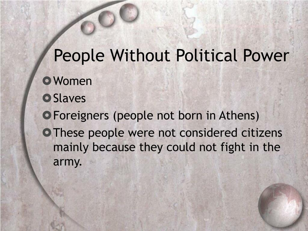 People Without Political Power
