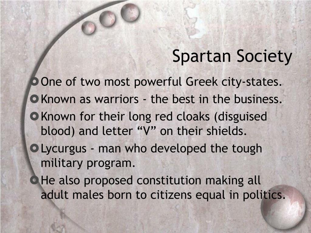 Spartan Society