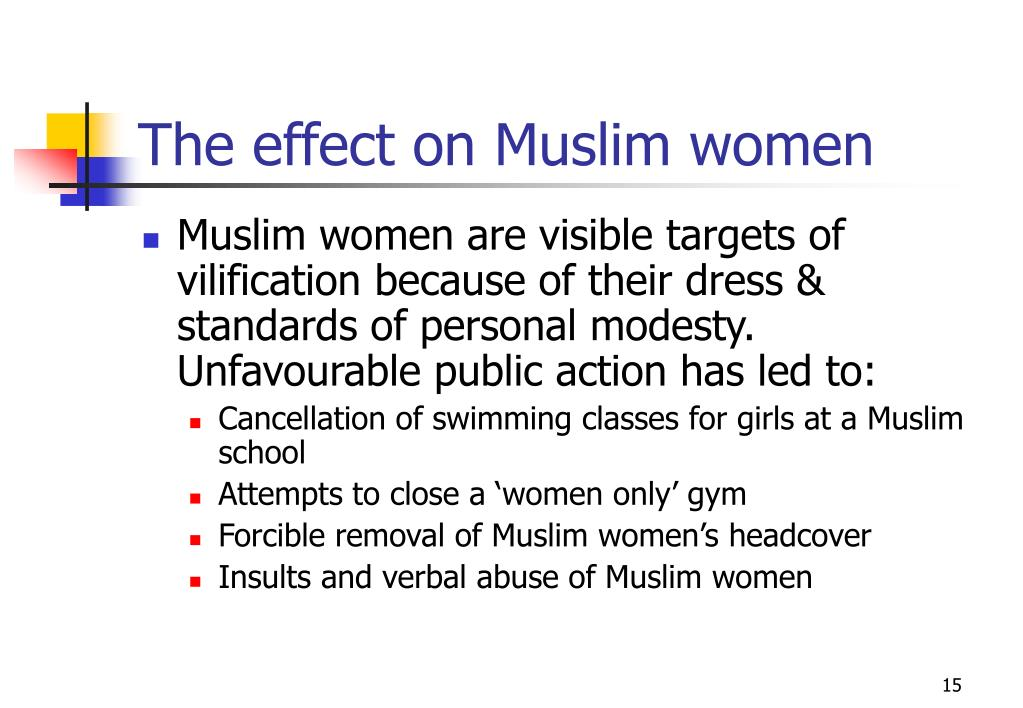 The effect on Muslim women