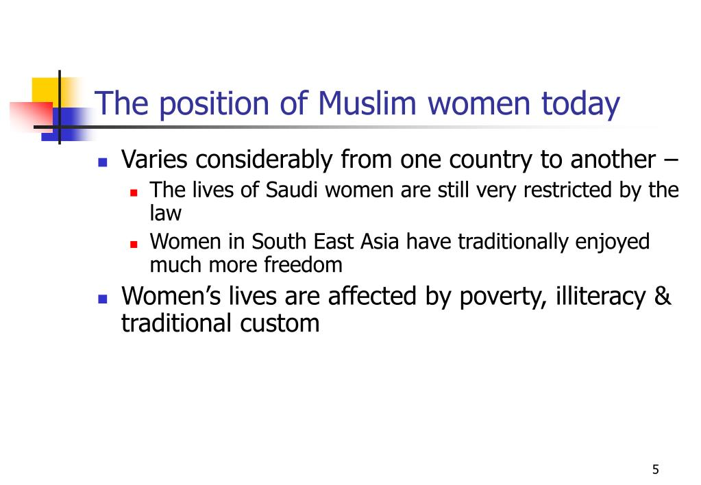 The position of Muslim women today