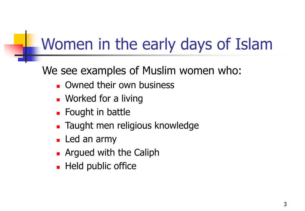 Women in the early days of Islam