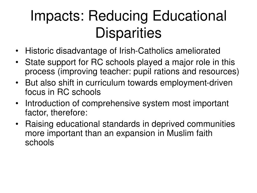 Impacts: Reducing Educational Disparities