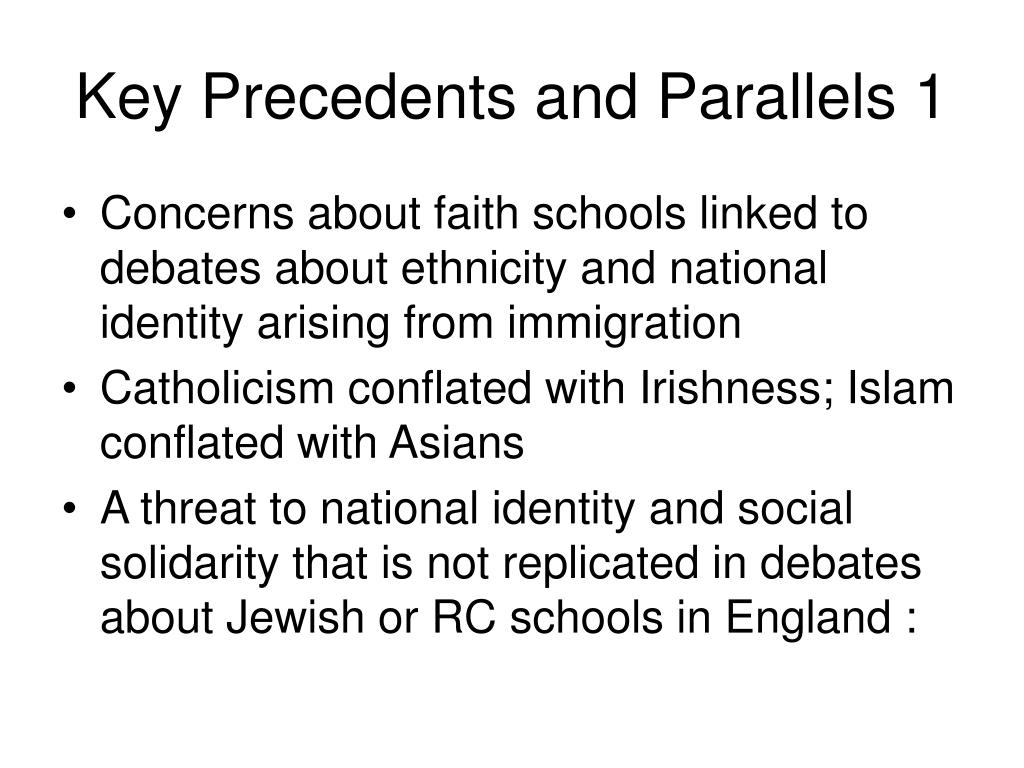 Key Precedents and Parallels 1
