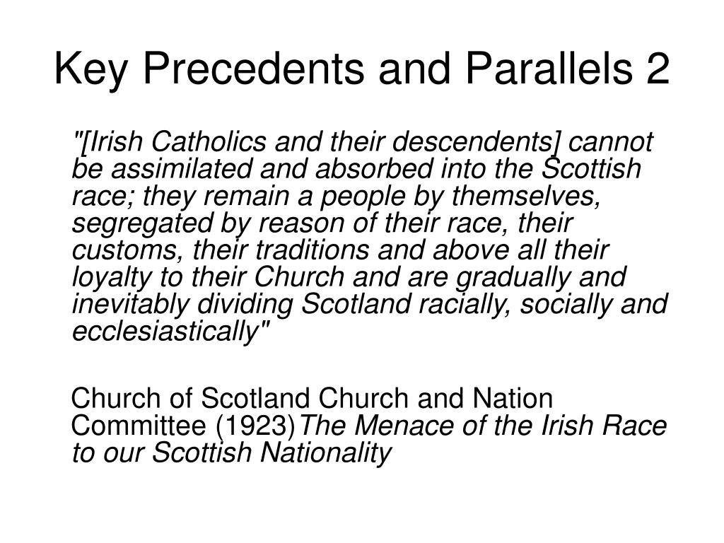 Key Precedents and Parallels 2
