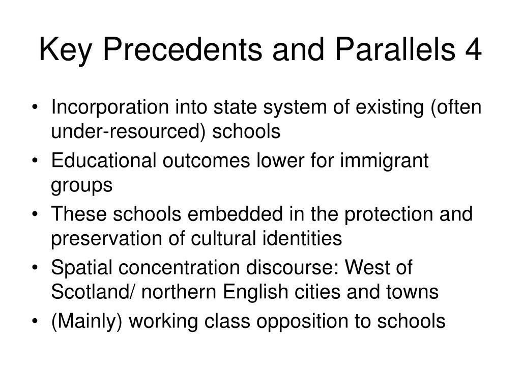 Key Precedents and Parallels 4